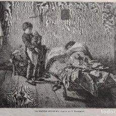 Arte: LA MADRE ENFERMA (1887). Lote 222704193