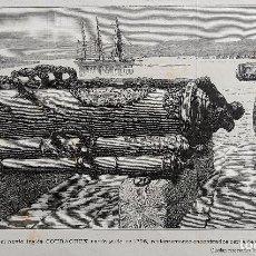 Arte: CAÑONES DEL NAVIO INGLES COURAGEUX NAUFRAGADO EN 1796 (1884). Lote 222704505