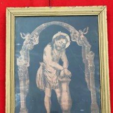 Arte: GRABADO ANTIGUO DE JESUS CAUTIVO DE 60 CMS. DE ALTO X 48 DE LARGO. Lote 222711900
