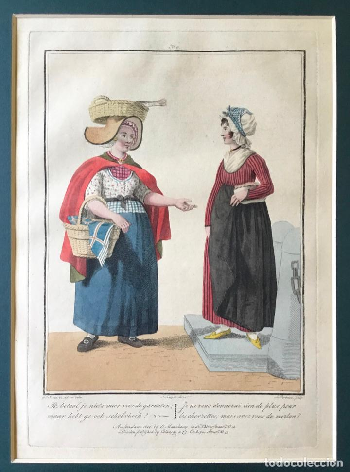 Arte: GRABADO COLOREADO. JE NE VOUS DONNERAI RIEN DE PLUS POUR... AMSTERDAM 1804 BY E. MAASKAMP. - Foto 2 - 222736775
