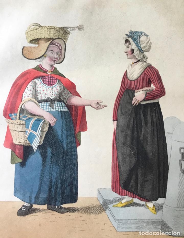 GRABADO COLOREADO. JE NE VOUS DONNERAI RIEN DE PLUS POUR... AMSTERDAM 1804 BY E. MAASKAMP. (Arte - Grabados - Modernos siglo XIX)