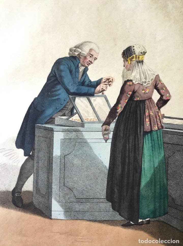 GRABADO COLOREADO. C'EST UN PRIX FAIT: IL N'Y A RIEN À EN RABATTRE. AMSTERDAM 1804 BY E. MAASKAMP. (Arte - Grabados - Modernos siglo XIX)