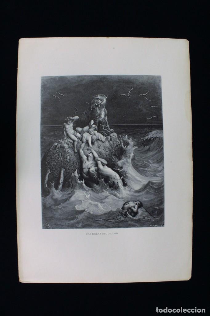 """GRABADO PANNEMAKER,SC """"UNA ESCENA DEL DILUVIO"""" DE GUSTAVE DORÉ. ENGRAVING """"A SCENE OF THE FLOOD"""" (Arte - Grabados - Modernos siglo XIX)"""