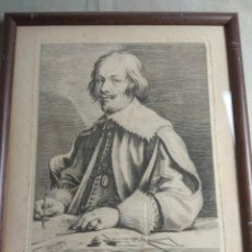 Arte: GRABADO IACOBVS CALLOT XVII ANT. VAN DYCK PINXCIT,VORSTERMAN SCULP. Lote 222961302