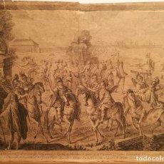 Arte: 1ª LAMINA DE LA MASCARA REAL POR FRANCESC TRAMULLES (1722-73). ORIGINAL S.XVIII.. Lote 223127548