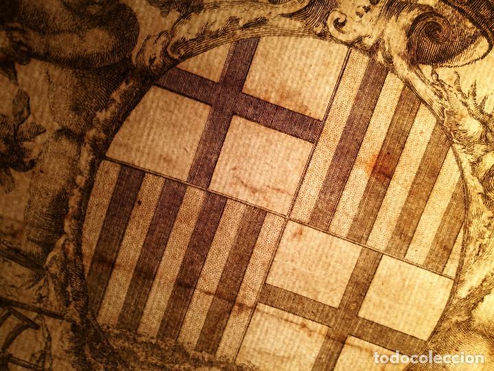 Arte: ESCUDO DE LA CIUDAD DE BARCELONA POR PERE PASCUAL MOLES (1741-97). ORIGINAL S.XVIII. - Foto 5 - 223128526