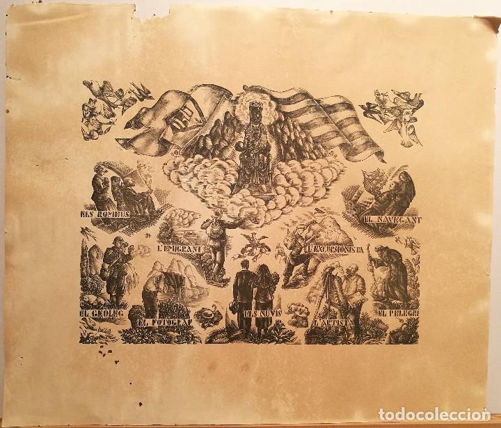 MONTSERRAT POR ENRIC CRISTOFOL RICART. 1931. (Arte - Grabados - Contemporáneos siglo XX)