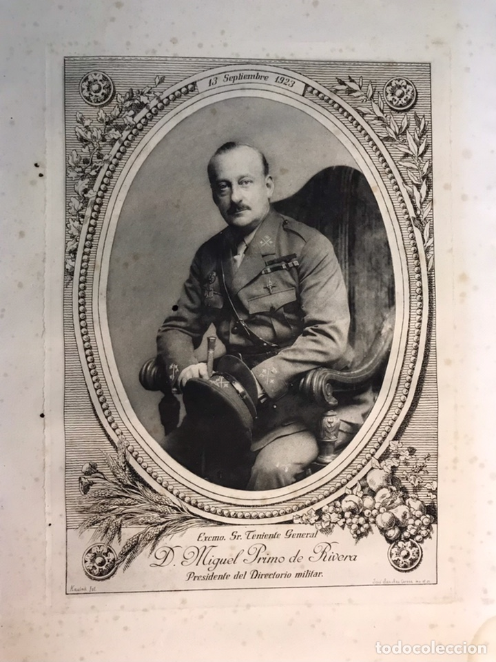 Arte: KAUNAK, fotógrafo. J. SANCHEZ GERONA, Grabado. Don Miguel Primo de Rivera (a.1923) - Foto 2 - 223424110