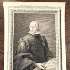 Arte: GRABADO CALCOGRAFICO D. FRANCISCO VALLES, PROFESOR DE MEDICINA EN ALCALA. S. XVIII. Lote 223479951