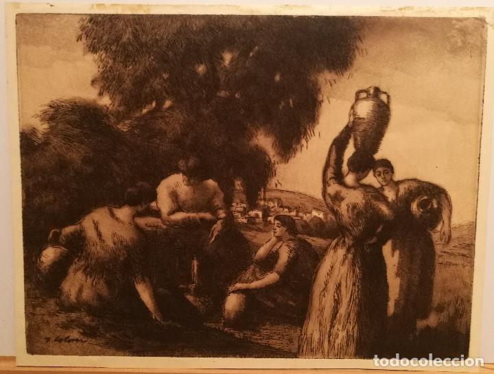 LES AIGUADORES POR JOAN COLOM (1879-1964) (Arte - Grabados - Contemporáneos siglo XX)