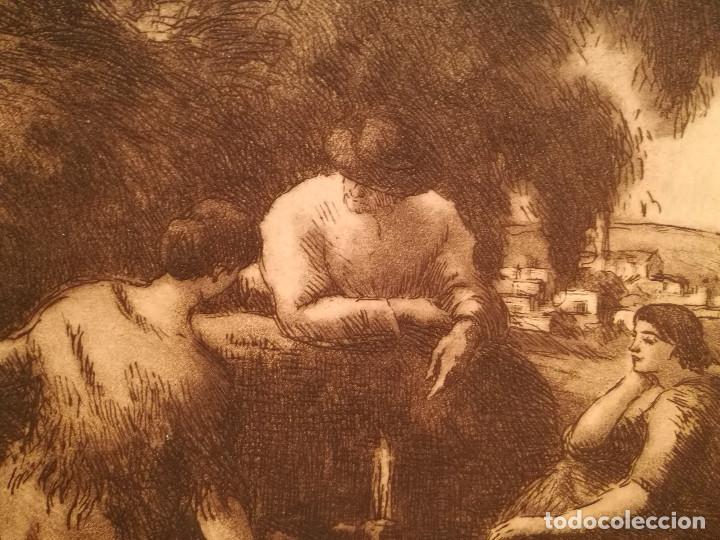 Arte: LES AIGUADORES POR JOAN COLOM (1879-1964) - Foto 3 - 223500866