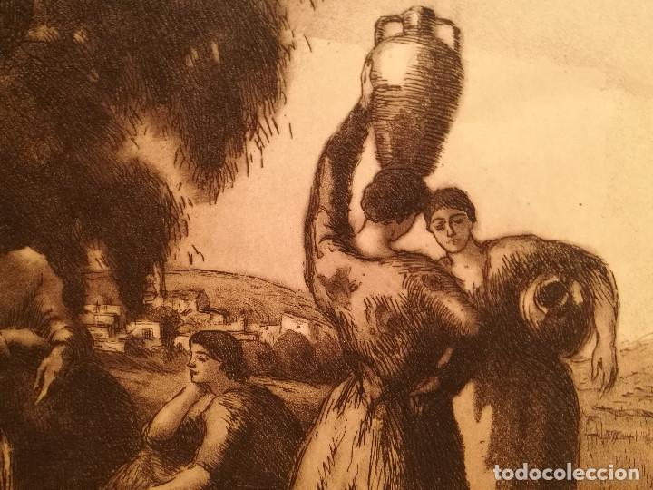 Arte: LES AIGUADORES POR JOAN COLOM (1879-1964) - Foto 4 - 223500866