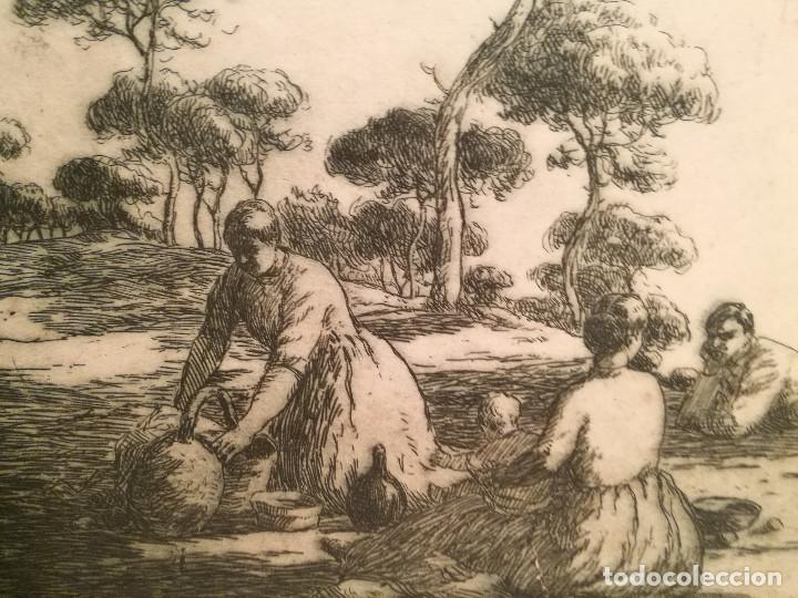 Arte: EL PICNIC PER JOAN COLOM (1879-1964) - Foto 3 - 223502148