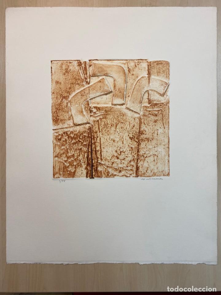 OBRA GRÁFICA ORIGINAL DEL ESCULTOR JOSE LUIS SÁNCHEZ (Arte - Grabados - Contemporáneos siglo XX)