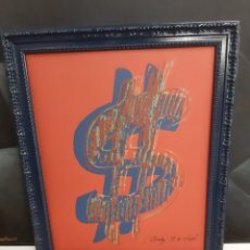 "Arte: ANDY WARHOL ""DOLLAR SIGN"". Lote 223579810"