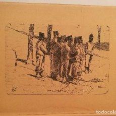 Arte: PELOTON DE SOLDADOS. MONOGRAMA ILEGIBLE.. Lote 223588231