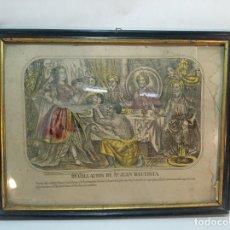 Arte: BELLA LITOGRAFÍA DEGOLLACIÓN DE SAN JUAN BAUTISTA. ESTAMPAS DE RUIZ Y TORRECILLA. MÁLAGA. SIGLO XIX.. Lote 223716812