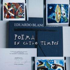 Arte: EDUARDO BLANCO AMOR POEMA 4 TEMPOS GRAVADOS CORREA CORREDOIRA ED BIBLIOGRAFICA 175 UNIDADES NUMERADA. Lote 223920242