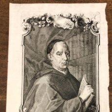 Arte: GRABADO CALCOGRAFICO TEOLOGO GIOVANNI-LORENZO BERTI. LAURENTIUS BERTI FLORENTINUS. S. XVIII. Lote 223928691