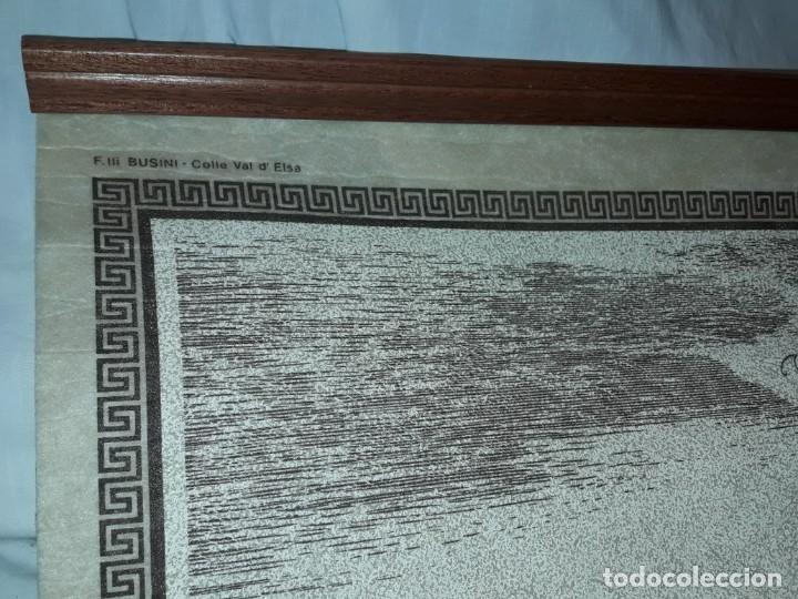 Arte: Bello grabado sobre papel tela Firenze por Gualchirani 64x62cm - Foto 3 - 223982945