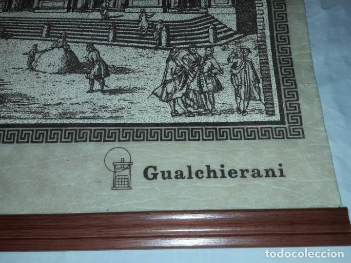 Arte: Bello grabado sobre papel tela Firenze por Gualchirani 64x62cm - Foto 6 - 223982945