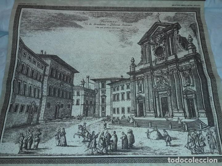 Arte: Bello grabado sobre papel tela Firenze por Gualchirani 64x62cm - Foto 8 - 223982945