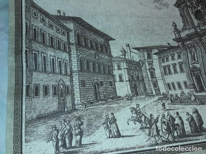 Arte: Bello grabado sobre papel tela Firenze por Gualchirani 64x62cm - Foto 9 - 223982945
