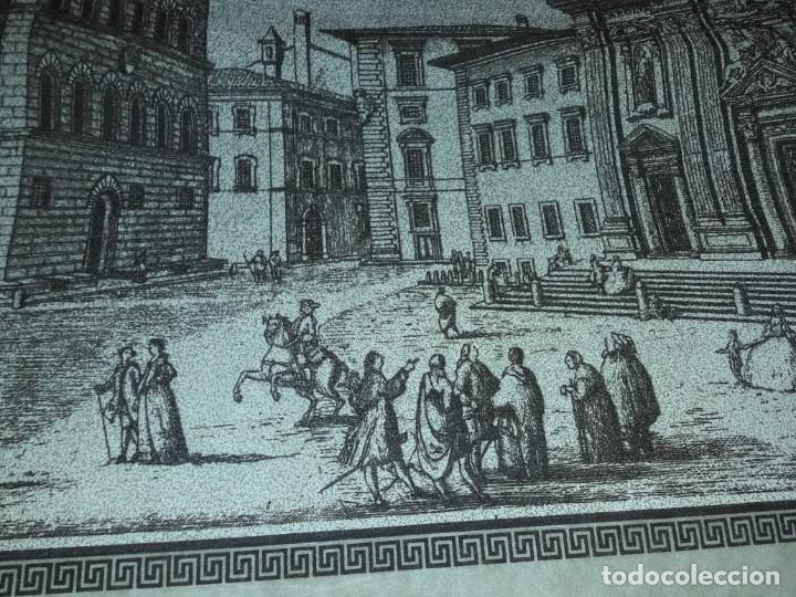 Arte: Bello grabado sobre papel tela Firenze por Gualchirani 64x62cm - Foto 10 - 223982945