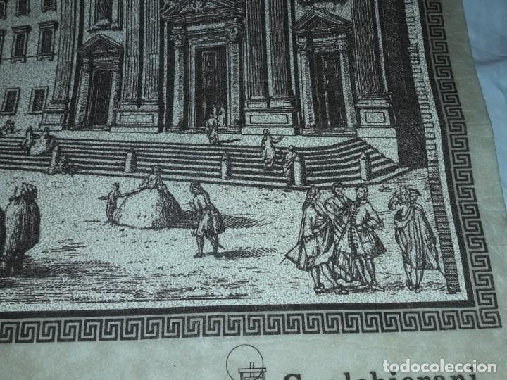 Arte: Bello grabado sobre papel tela Firenze por Gualchirani 64x62cm - Foto 11 - 223982945