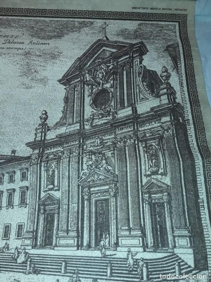 Arte: Bello grabado sobre papel tela Firenze por Gualchirani 64x62cm - Foto 12 - 223982945