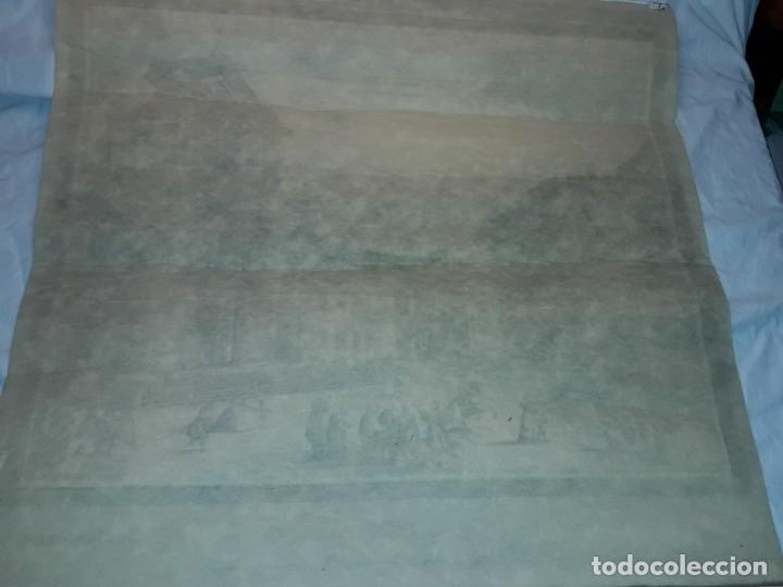 Arte: Bello grabado sobre papel tela Firenze por Gualchirani 64x62cm - Foto 14 - 223982945