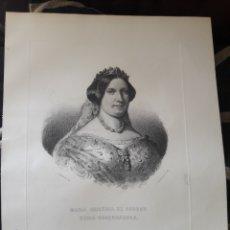 Arte: ANTIGUO GRABADO, MARIA CRISTINA DE BORBON, REINA GOBERNADORA, PO J, VANDERSYPEN. Lote 224188843