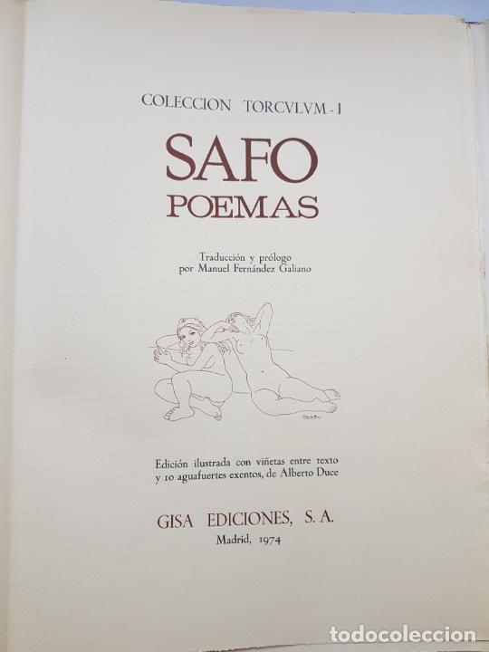 Arte: SAFO POEMAS EDICION BIBLIOGRAFICA 10 GRABADOS AGUAFUERTE ALBERTO DUCE NUMERADOS 185 EJEMPLARES - Foto 38 - 224459102