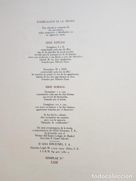 Arte: SAFO POEMAS EDICION BIBLIOGRAFICA 10 GRABADOS AGUAFUERTE ALBERTO DUCE NUMERADOS 185 EJEMPLARES - Foto 39 - 224459102