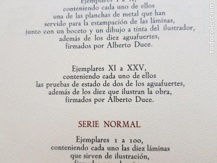 Arte: SAFO POEMAS EDICION BIBLIOGRAFICA 10 GRABADOS AGUAFUERTE ALBERTO DUCE NUMERADOS 185 EJEMPLARES - Foto 41 - 224459102