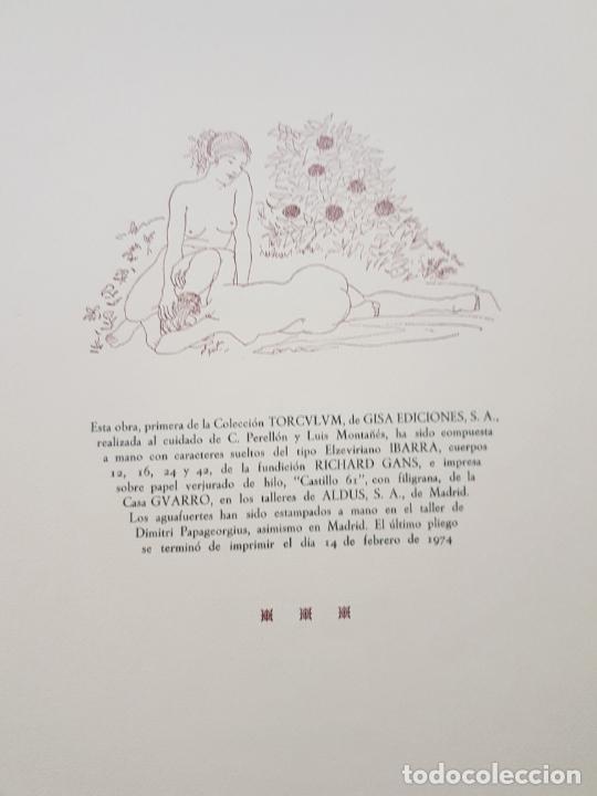 Arte: SAFO POEMAS EDICION BIBLIOGRAFICA 10 GRABADOS AGUAFUERTE ALBERTO DUCE NUMERADOS 185 EJEMPLARES - Foto 43 - 224459102