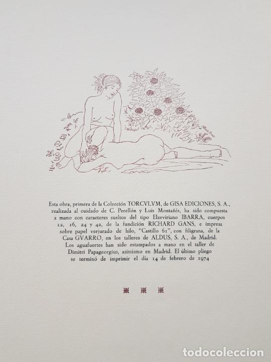 Arte: SAFO POEMAS EDICION BIBLIOGRAFICA 10 GRABADOS AGUAFUERTE ALBERTO DUCE NUMERADOS 185 EJEMPLARES - Foto 44 - 224459102