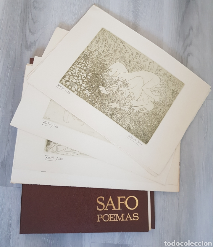 SAFO POEMAS EDICION BIBLIOGRAFICA 10 GRABADOS AGUAFUERTE ALBERTO DUCE NUMERADOS 185 EJEMPLARES (Arte - Grabados - Contemporáneos siglo XX)