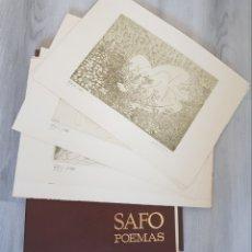 Arte: SAFO POEMAS EDICION BIBLIOGRAFICA 10 GRABADOS AGUAFUERTE ALBERTO DUCE NUMERADOS 185 EJEMPLARES. Lote 224459102