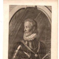 Arte: GRABADO JUAN DE AUSTRIA, GOB. DE LOS PAISES BAJOS. S. XVIII. Lote 224465840