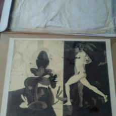 Arte: GRABADO DE JORGE CASTILLO. TITULO: MARCO ANTONIO Y CLEOPATRA. Lote 224490758