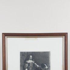 Arte: GRABADO DE BARTOLOMÉ MAURA Y MONTANER REALIZADO EN 1877. UN ENANO DE FELIPE IV. VELAZQUEZ. Lote 224608026