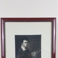 Arte: GRABADO AGUAFUERTE DE BARTOLOMÉ MAURA, ORIG. PINT. POR ESTEBAN MARCH, RETRAT.JUAN BAUTISTA DEL MAZO. Lote 224610158