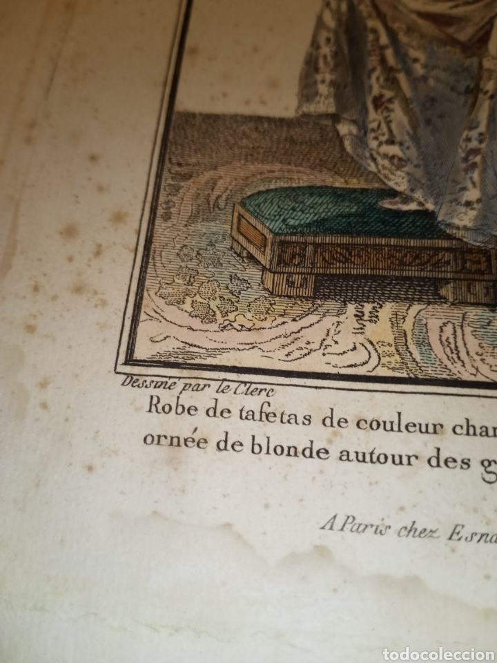 Arte: Grabado moda s. XVIII París - Foto 3 - 224795693