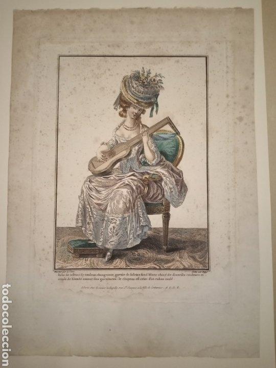 GRABADO MODA S. XVIII PARÍS (Arte - Grabados - Antiguos hasta el siglo XVIII)