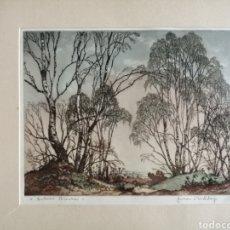 Arte: JAMES PRIDDEY (BIRMINGHAM 1916-1980).GRABADO FIRMADO Y TITULADO.. Lote 224840816