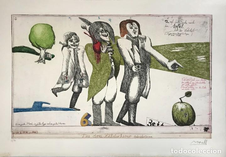 GRABADO ORIGINAL PIT MORELL, HUMI'S WORLD. WORPSWEDE, DIE INSEL 1971. (Arte - Grabados - Contemporáneos siglo XX)