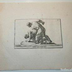 Arte: LES LUTTEURS (LUCHADORES) S. THOMASSIN FECIT, CORNU SCULP. 1724. PAPEL 24X20 CM. Lote 225145125