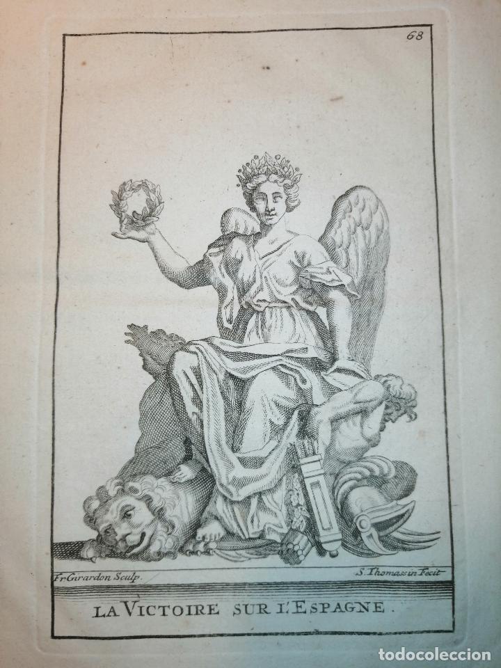 Arte: La Victoire sur l'Espagne (Victoria sobre España) S. Thomassin Fecit, Fr. Girardon Sculp. 1724. - Foto 2 - 225145266