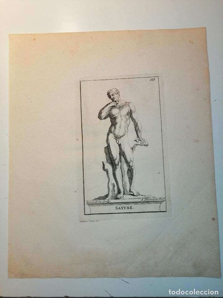 SATYRE (SÁTIRO) S. THOMASSIN FECIT, LEREMBERG SCULP. 1724. PAPEL 24X20 CM. (Arte - Grabados - Antiguos hasta el siglo XVIII)